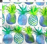 Ananas, Obst, Wasserfarben, Türkis, Blau, Grün, Essen