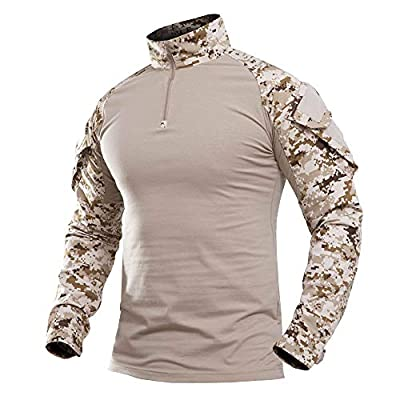 Military Uniforms for Men Cotton Army Jacket Lightweight Mens Desert Camo T Shirts for Men T Shirts Fishing Shirts Long Sleeve