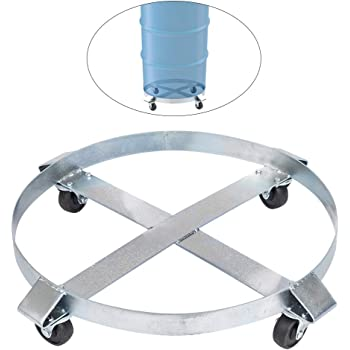 LIBRA 55 Gallon Foldable Drum Dolly with Swivel Wheel Casters Drum Cart Barrel Cart