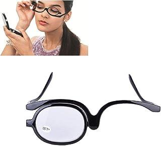 c88b2ccfec Magnifier Eye Makeup Glasses Lentille Rotative Lunettes Femmes Maquillage  Outil essentiel(400)