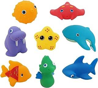 Animaux de la mer gicle jouets de bain amusant jouets flottants de baignoire,13Pcs Toyvian Jouets de bain