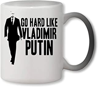 KRISSY Go Hard Like Vladimir Putin Heat Colour Changing Mug Cup Café Vaso