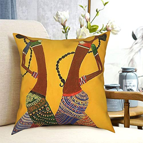 FDGJNB Ancient Egyptian Art of Life Throw Pillow Covers Square Throw Cushion Covers Home Decor Square Pillowcase for Sofa Bedroom Car 20'x20'