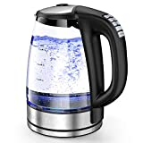 HadinEEon Variable Temperature Electric Kettle, 1200W Electric Tea Kettle, 8 Big Cups 2.0L Glass Portable...