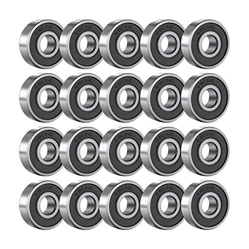 NA 608RS Kugellager 9 Metall Double Shielded Miniatur Rillenkugellager Kugellager Reibungsfreie Skateboard Wheels für Skateboard Roller Inline Skates 8mm x 22mm x 7mm