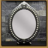 HAOYANGDESpecchio per il trucco specchio da bagno Specchi da tavolo Specchio da tavolo retro grande specchio specchio specchio creativo carino singolo desktop principessa specchio trucco specchio bell