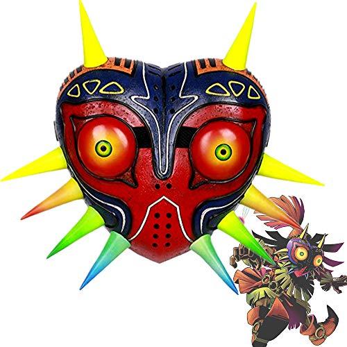La Leyenda de Zelda Majora Mask Máscara Impresión 3D Personalizada Casco Cosplay Disfraz Costume Accesorio Colección Carnaval Halloween Resina Regalo Unisex para Fans de Juego