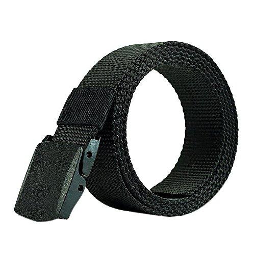 LAMEIDA Cinturón de lona de Hombre Cinturones Tácticos Ocasionales Policía Hebilla Plástica Automática Aire Deporte 1Pcs 110 cm
