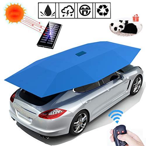 GJZhuan Completa Auto Tenda Automatica Coperto, Telecomando Sunproof Anti-UV Impermeabile Antivento, Charge Solaire Tenda Universal Tenda per Auto Antigrandine,Blue-4600MM
