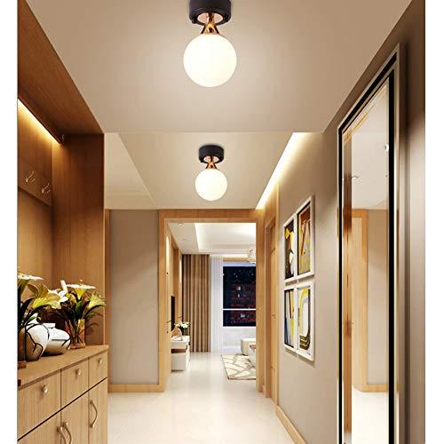 DAXGD LED-Wandleuchten, Seitenmarkierungsleuchte, Glaskugel-Lampe, Deckenleuchten für Schlafzimmer, E14