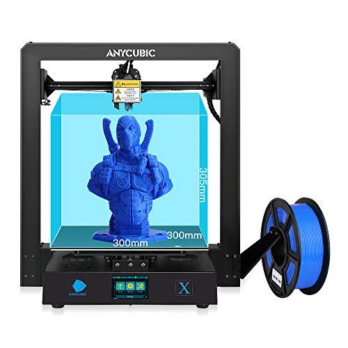 ANYCUBIC MEGA X 3D プリンター 本体 アップグレード版 大容量 印刷サイズ300*300*305mm 金属製 高精度 TPU/ABS/PLA等対応 操作簡易 DIY 家庭用 教育用 3d プリンタ 専門者/初心者/学校等向け
