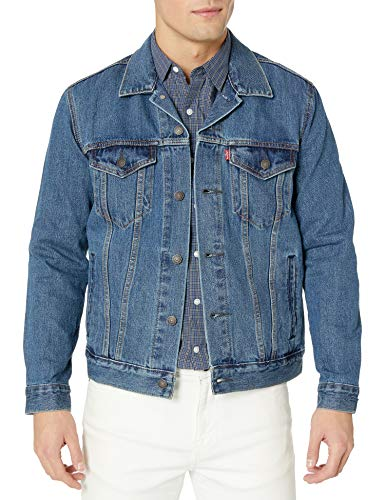 Levi's Men's The Trucker Jacket, Medium Stonewash, X-Large