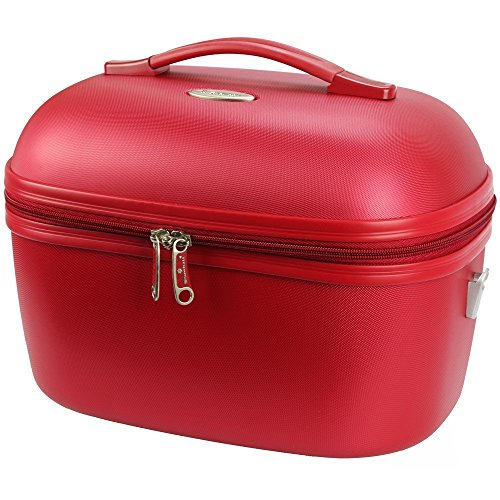 Snowball – Beauty Case Snowball Dublin, 34 x 24 cm, in plastica ABS e tessuto, Idea Regalo per Donna, rosso (rosso) - 31935