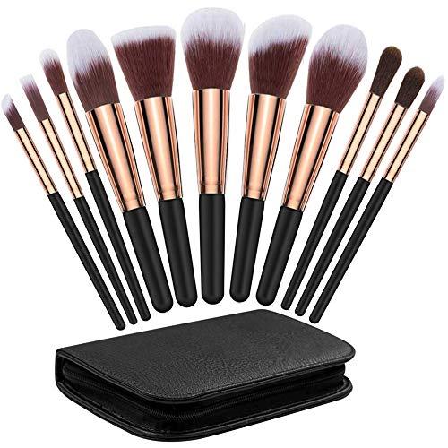 XIANRUI Pinceaux Maquillage Cosmétique, 11Pcs Professionnel Beauté Maquillage Brosse Makeup Brushes avec Blender éponge et brosse Cleaner Cosmétique Fondation avec Sac