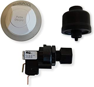 Air switch & button for three posistion control panel White with dvd tutorial