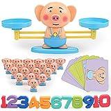 1 SET Monkey Digital Balance Scale Animales Math Game Board Niños Educativo Early Learning Adición Resta Puppy Piggy Doll (cerdito)