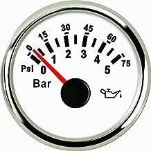 ELING Oil Pressure Gauge Meter 0-5bar 0-75PSI with Backlight 52mm(2