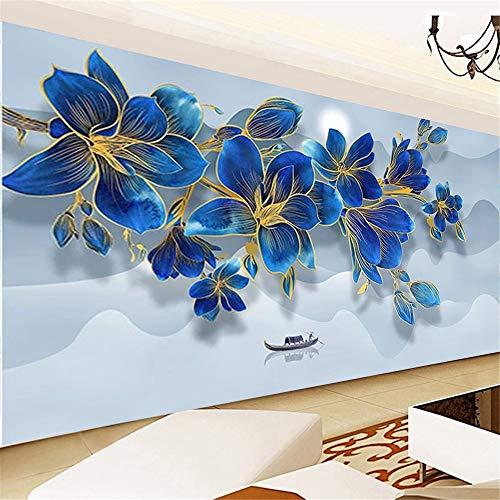 Nicole Knupfer DIY Diamond Painting 5D Diamant Painting Set Blaue Magnolienblume Full Drill Stickerei Diamonds Malerei für Home Wand Dekor (100 * 40cm)
