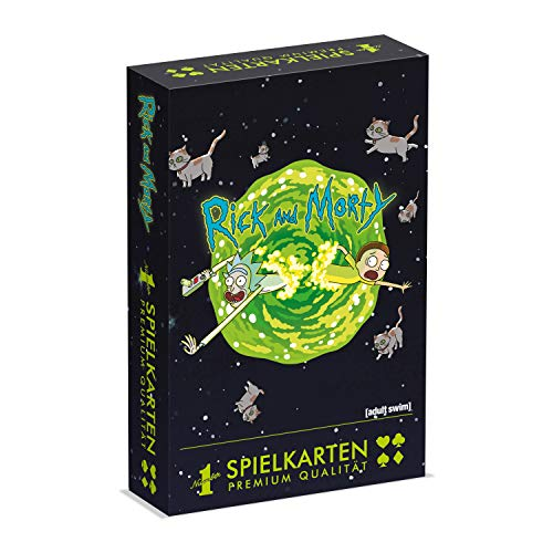 Winning Moves 30683 Number 1 Spielkarten - Rick & Morty, Kartenspiel