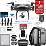 DJI Phantom 4 Pro Quadcopter Drone Camera (Obsidian) Flight Autonomy system offers 5 directions of obstacle sensing & 4 directions of obstacle avoidance. INCLUDED IN THE BOX: DJI Phantom 4 Pro Drone Obsidian Edition | Remote Control | Propellors | Ba...