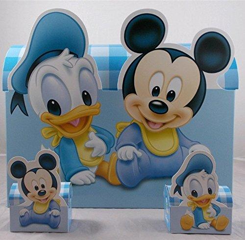 CARTOON WORLD SRL 10 BOMBONIERE Disney Astuccio Porta Confetti Topolino E Paperino con Confetti e Bigliettini Inclusi
