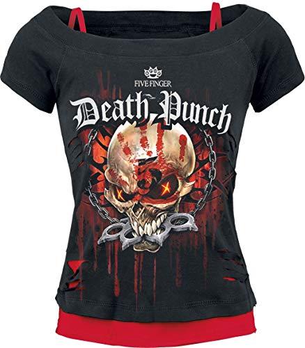 Five Finger Death Punch Assassin Frauen T-Shirt schwarz/rot M