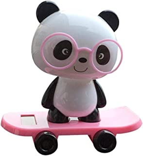 Solar Powered Bobble Toy, Jujunx Cute Panda Dancing Swinging Animated Bobble Dancer Toy Car Decor