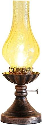 MILUCE レトロテーブルランプ古い灯りランプベッドルームのベッドサイドランプクリエイティブ中国の古典的なランプ研究装飾的なランプ ( 色 : イエロー いえろ゜ )