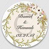 Mdsfe 100, Fügen Sie Ihre Namen und Datum hinzu, Hochzeitsaufkleber, Einladungssiegel,...