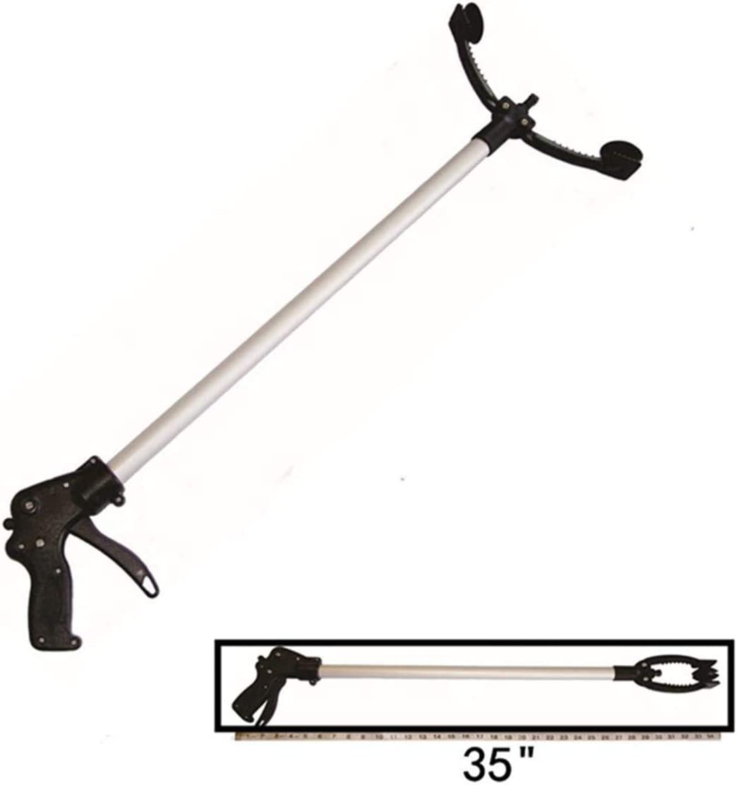 Reacher Clearance SALE Limited Complete Free Shipping time Grabber New Locking Feature Jaw Extra 35'' 10.5'' Wide