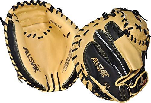 All-Star CM3000SBT-1BK TN33.5 Pro-Elite Professional Catching Mitt Black & Tan BK TN 33.5
