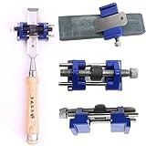 Tiptiper Afiladores de cuchillos, Guía de bruñido Jig Sharpening Wood Chisel Plane Planos de hierro Accesorios de herramientas de mano