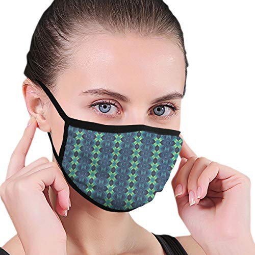 Comfortable Windproof mask,Symmetric Geometric Vertical Borders With Zig Zag Stripes Adults