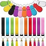 30 Pieces Chapstick Holder Keychain Lipstick Holder Keychain Clip-on Sleeve Chapstick Pouch Lip Balm...