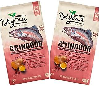 2 Bags of Purina Beyond Indoor Grain-Free Salmon, Egg & Sweet Potato Recipe Dry Cat Food 3-LBS ea