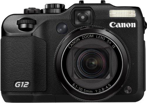 Canon PowerShot G12 Digitalkamera (10 MP, 5-fach opt. Zoom, 7,0cm (2,8 Zoll) Display, bildstabilisiert) schwarz