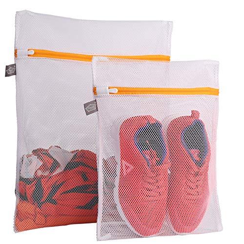 Kimmama Set of 2 Delicates Laundry BagsDurable Zipper Mesh Laundry Bag Wash BagProtect Cloth Shape in The WasherCoarse Mesh