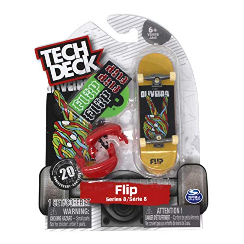 Tech Deck Series 8 Flip Skateboards Luan Oliveira Peace Rare Fingerboard with Trainer Clips
