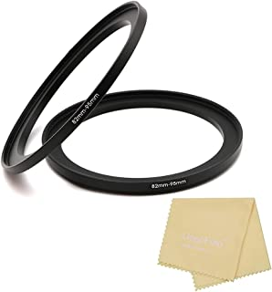 Metal Step Up Ring, 82mm to 95mm 82-95mm Step Rings with Lens Cleaning Cloth, 2 Pieces Step-Up Lens Adapter Ring for Canon...