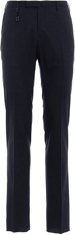 INCOTEX Men's 1AT0305855E930 Black Wool Pants