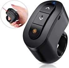 Wireless Presenter Clicker, RF 2.4GHz Presenter Remote For Keynote/PPT/Mac/PC, Rechargeable Presentation Clicker with Laser Pointer