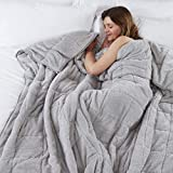 TEDDY FLEECE Weighted Blanket for Adults Kids Soft Sherpa Throw Sleep Therapy Autism Sensory Anxiety Stress Relief Insomnia Sleeping Aid (Silver Grey, Double Size - 125cm x 180cm - 6kg (13lb))