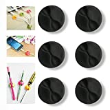 Original Cable Clips - Cord Holder & Organizer - Multi Purpose Cable Management Home and Office - Wire Organizer - Cord & Cable Holder - Desktop Cable Organizer - 6 Pack Self Adhesive Cord Hooks