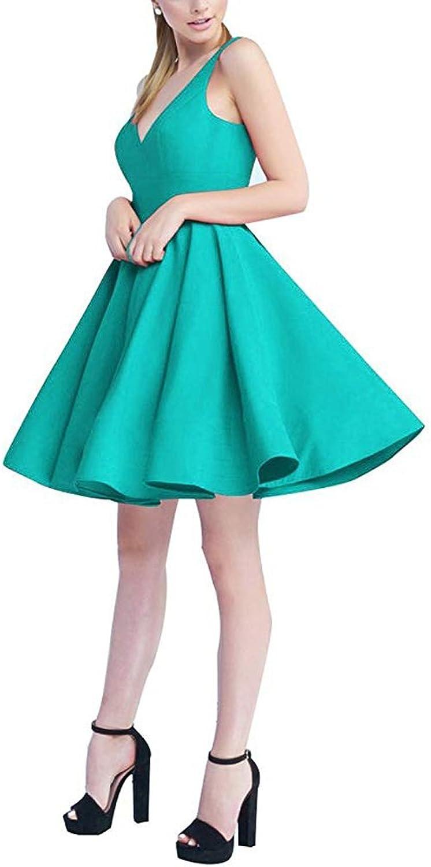 Ellenhouse Women's VNeck Homecoming Dresses 2018 Short Party Gowns