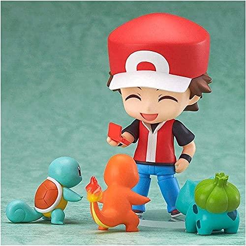 4 stks Pokeacute; MO-figuren speelgoed anime figurine pikachu charizard ash bulbasaur figuur kinderen model poppen LNNDE