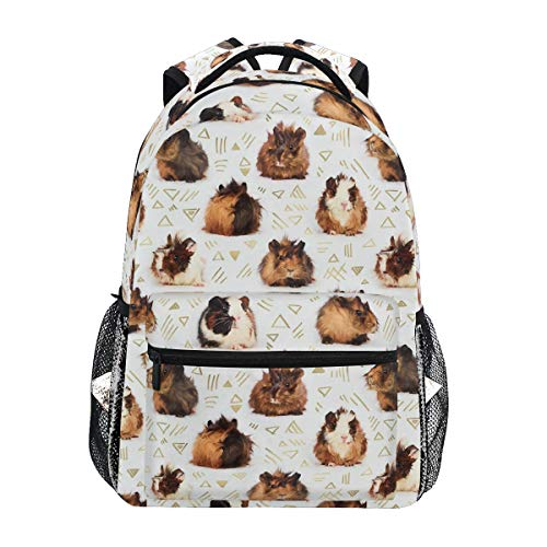 Backpacks Lots Of Little Guinea Pigs College School Book Bag Travel Hiking Camping Daypack