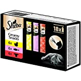 Sheba Creamy Snacks - Cremiges Katzen-Leckerli mit je 6X Huhn, Lachs, 1er Pack (1 x 216 g)