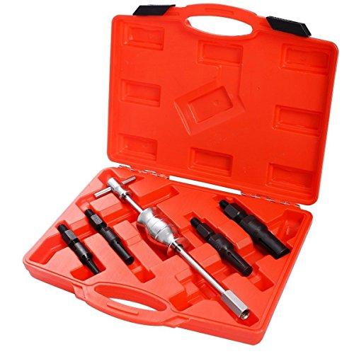 HENGDA® 5pcs Rodamiento interior sackloch Remover Extractor Puller Set Slide Hammer Tool Kit