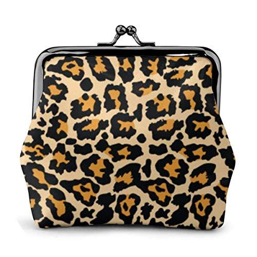 Sexy Animal Leopard Women 'S Wallet Hebilla Monederos Monedero Kiss-Lock Cambiar Carteras de Maquillaje de Viaje