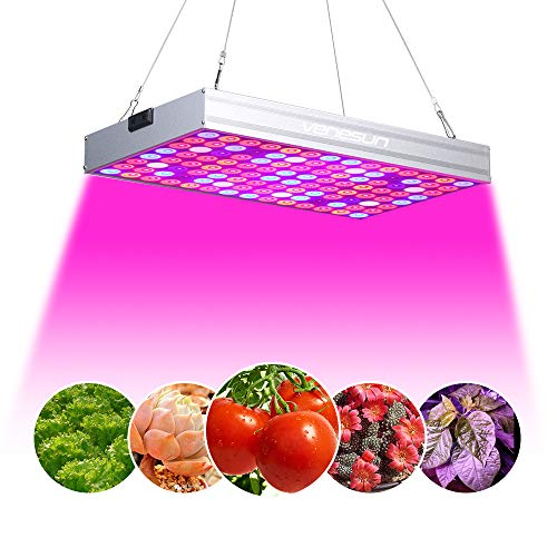 150W LED Grow Light, Venesun Upgraded Full Spectrum LED Grow Lamps for Indoor Plants Growing